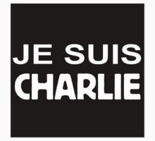 Je Suis Charlie (white) by Saing Louis