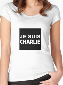 Je Suis Charlie (white) Women's Fitted Scoop T-Shirt