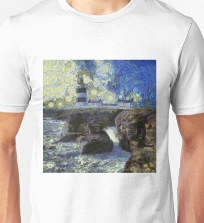 Starry Hook Head Lighthouse Unisex T-Shirt