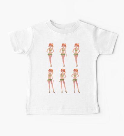 Red haired girl in green outfit Baby Tee