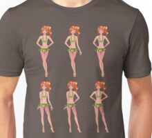 Red haired girl in green outfit Unisex T-Shirt