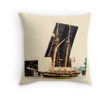 Pride of Baltimore II - On the Saginaw Throw Pillow