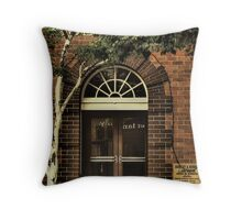 The lawyers office Throw Pillow