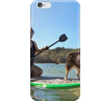 Happy Pup Paddle Boarding iPhone Case/Skin