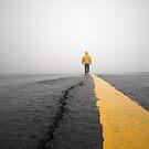 Storm Chaser Walking Down Road by Dan Jesperson