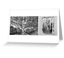 Frozen Multnomah Falls Greeting Card