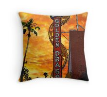 The Golden Dragon Throw Pillow