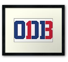 Odell Beckham Jr. | ODB 13 (Red/Blue Colorway) Framed Print