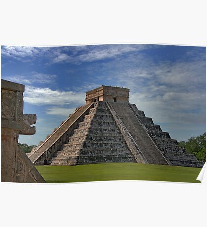 The Kukulcán Pyramid or El Castillo (The Castle) - Chichen Itza Poster