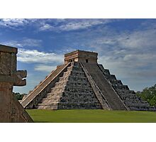The Kukulcán Pyramid or El Castillo (The Castle) - Chichen Itza Photographic Print