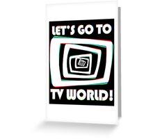 TV World White Greeting Card