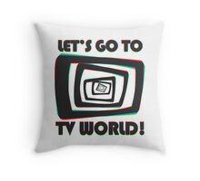 TV World Black Throw Pillow