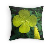 Yellow Morning Primrose Throw Pillow