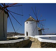 Mykonos Windmills #1 Photographic Print