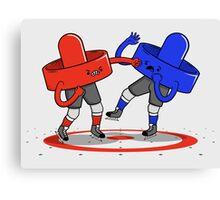Air Hockey Brawl Canvas Print