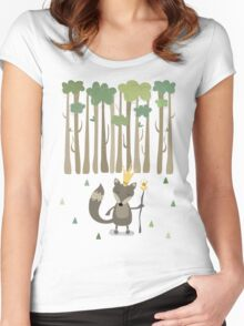 The King of the Wood Women's Fitted Scoop T-Shirt