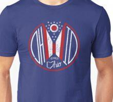 Distressed Deco Ohio Seal Unisex T-Shirt