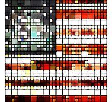 Retro Abstract American Flag Photographic Print