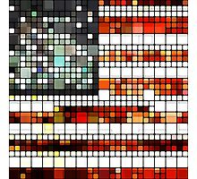 Retro Abstract American Flag Photographic Print