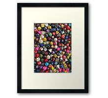 All the dice Framed Print