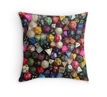 All the dice Throw Pillow