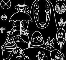Ghibli in black by FrancisMacomber
