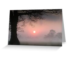Red Sun Rising Greeting Card