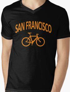 I Bike San Francisco Mens V-Neck T-Shirt