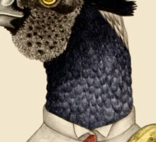 trendy guy pheasant with banana Sticker