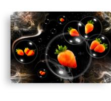 space strawberries  Canvas Print