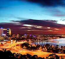 Perth Sunrise Edit II by Kirk  Hille