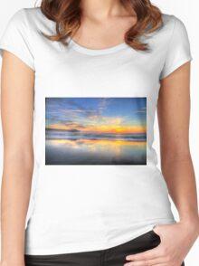 Sunrise in Garden City 2 Women's Fitted Scoop T-Shirt