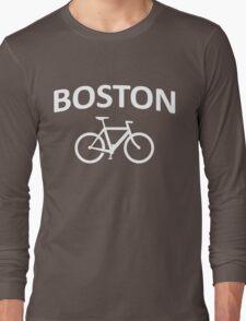 I Bike Boston - Fixie Design Long Sleeve T-Shirt