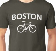 I Bike Boston - Fixie Design Unisex T-Shirt