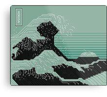Katsushika Hokusai Electronic Circuit Board Metal Print