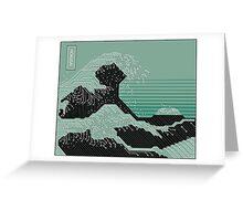 Katsushika Hokusai Electronic Circuit Board Greeting Card