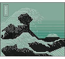 Katsushika Hokusai Electronic Circuit Board Photographic Print