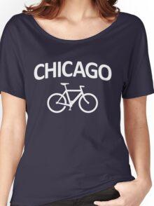 I Bike Chicago - Fixie Bike Design Women's Relaxed Fit T-Shirt