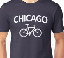 I Bike Chicago - Fixie Bike Design Unisex T-Shirt