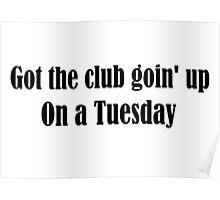 Tuesday Lyrics Highlight Poster
