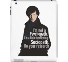 Sherlock - Psychopath/ Sociopath iPad Case/Skin