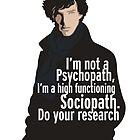 Sherlock - Psychopath/ Sociopath by somethingdiffer