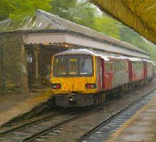 Passanger Train at Hebden Bridge by Glen Allen