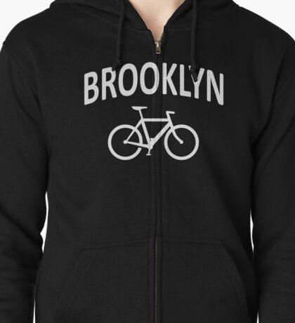 I Bike Brooklyn, NYC - Fixie Bike Design Zipped Hoodie