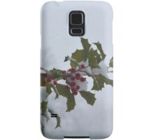 Snow on the holly Samsung Galaxy Case/Skin