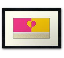 heart designing walls in empty room Framed Print