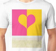 heart designing walls in empty room Unisex T-Shirt