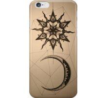 Dotwork Sun and Moon iPhone Case/Skin
