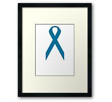 Ovarian Cancer Awareness ribbon Framed Print
