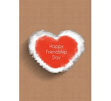 happy friendship day, heart concept Photographic Print